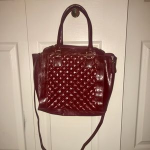 Handbags - Red faux leather purse. Color is a dark red.